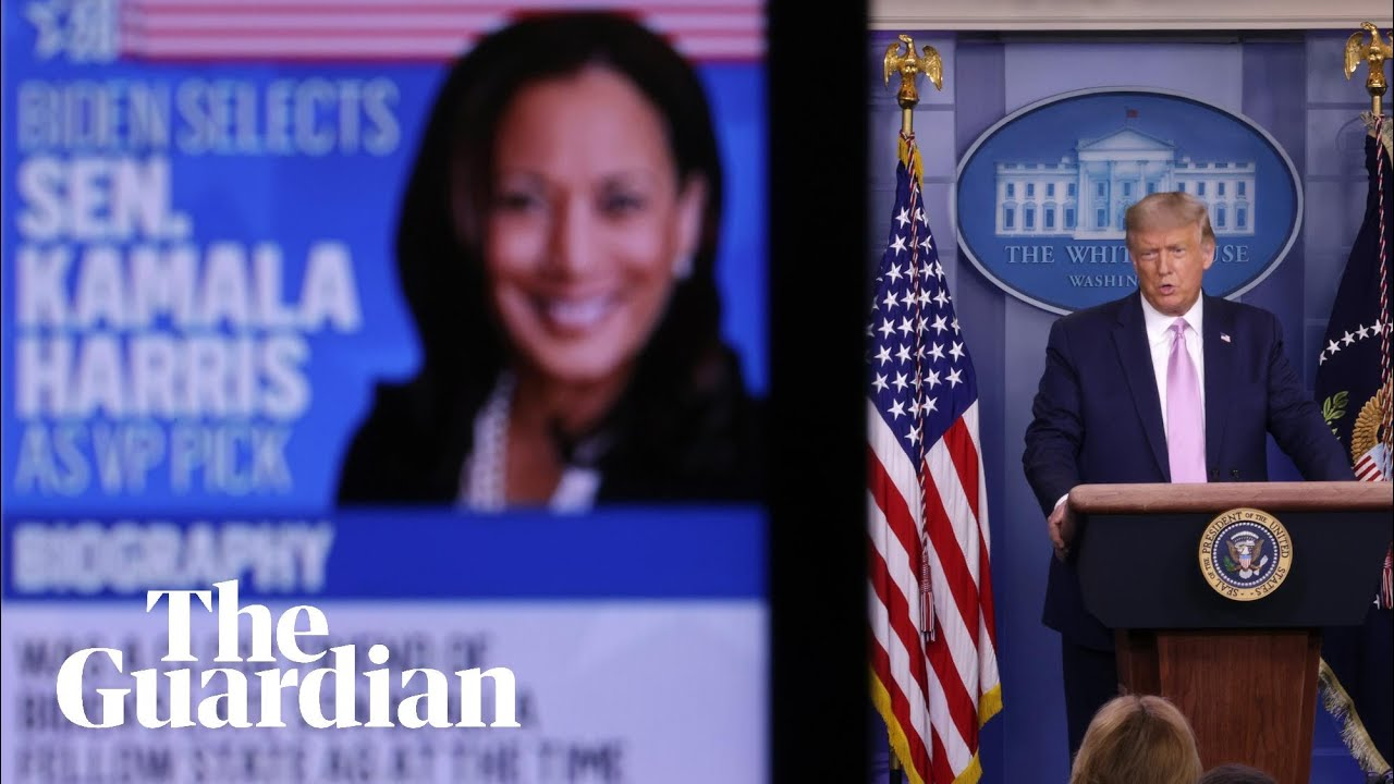 Donald Trump And His Campaign Launch Scattergun Attacks On Kamala Harris Us News The Guardian