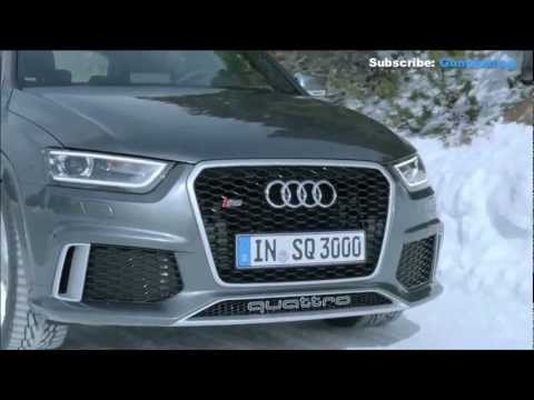 Audi RS Q3: Snow Test quattro all-wheel Drive System - Great Sound