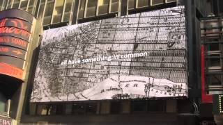 """Bank of America/PBS Roosevelts """"New Deal"""" Times Square billboard"""