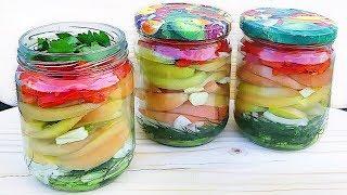 САЛАТ ОБАЛДЕННЫЙ и ЛЕГКИЙ В ПРИГОТОВЛЕНИИ! Салат из зеленых помидоров на зиму