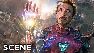 Iron Man Snap Scene - AVENGERS 4 ENDGAME Movie Clip (2019)