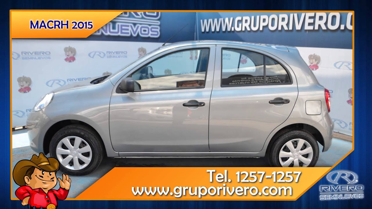 Autos Seminuevos Monterrey México - March Nissan 2015 Gris