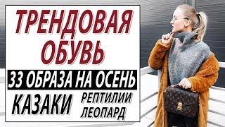 ТРЕНДОВАЯ ОБУВЬ | КАЗАКИ РЕПТИЛИЯ ЛЕОПАРД И ЗЕБРА В ОБУВИ | 33 ОБРАЗА НА ОСЕНЬ 2018 | КАК СОЧЕТАТЬ