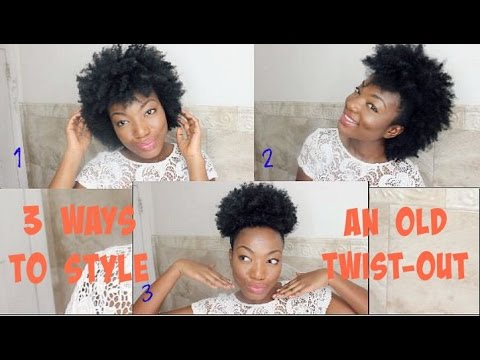 ways to style my hair 3 ways to style an or failed twistout on hair 3377 | hqdefault