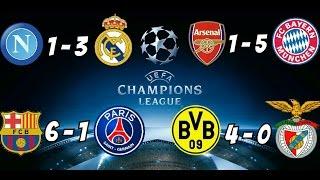 RISULTATI CHAMPIONS LEAGUE NAPOLI 1-3 REAL  E ARSENAL 1- 5 BAYERN M. #championsleague