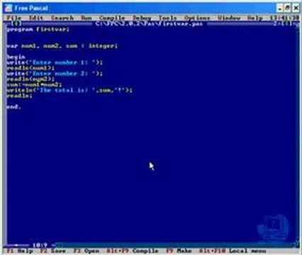 TURBO PASCAL TUTORIALS