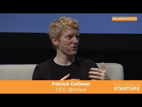 Stripe Patrick Collison on dropping out of school to raise $ from Sam Altman, Peter Thiel, ‏Sequoia