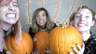 PUMPKIN CARVING GONE WRONG W/ THE GABBIE SHOW