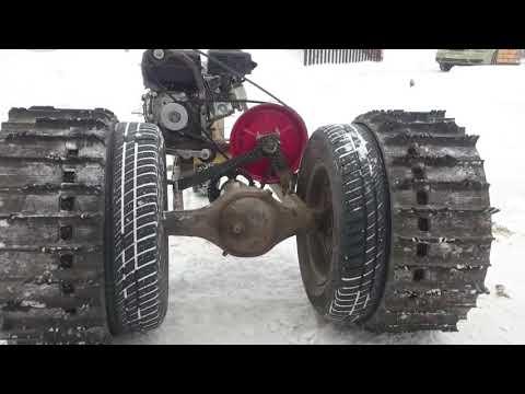 """Минитрактор """"МИКРОБ"""" против 2000 кг. Крутая самоделка из мотоблока."""