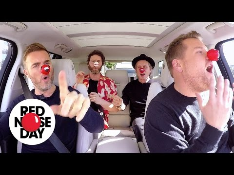 Carpool Karaoke with Take That | Red Nose Day 2017