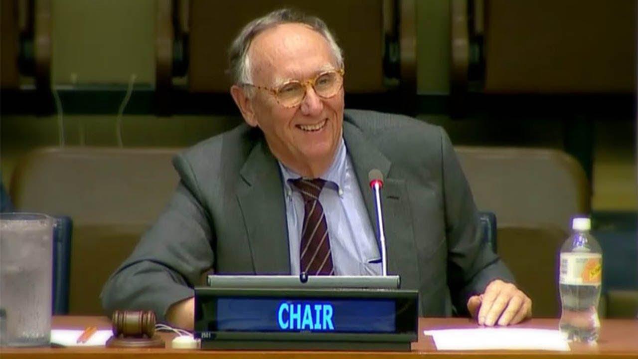 Jack Dangermond Introduces WGIC at the 8th Session of UN-GGIM