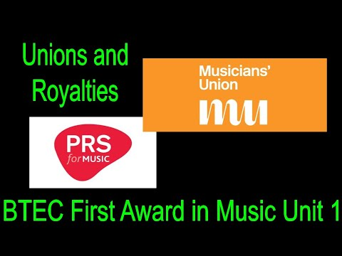 BTEC First Award Music Virtual Textbook - Royalty Collection Agencies and Unions