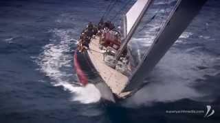 J Class Rainbow sailing in BVI Regatta