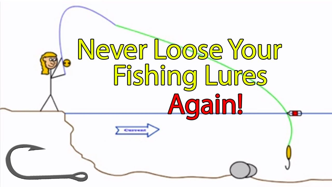 how to free a snagged fishing hook in a river (genie in a bottle, Fly Fishing Bait