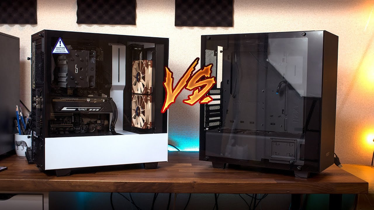 Nzxt H500 Vs S340 Front Airflow Comparison Youtube