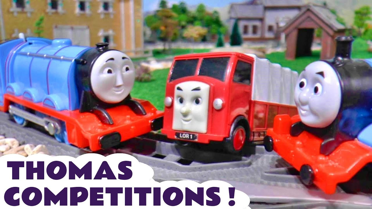 Thomas and Friends Versus Competitions - Fastest and Strongest Toy Train Stories for Kids