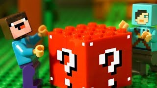 КРАСНЫЕ 🔺 ЛАКИ БЛОКИ и Лего НУБик Майнкрафт - Анимация