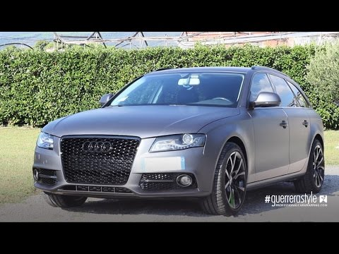 Audi A4 Avant Car Wrapping Demo Car By Guerrerastyle Com Youtube