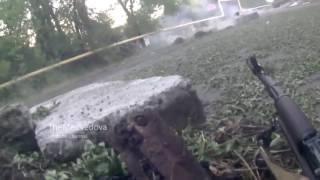 Неудачный штурм ополченцев  Камера засняла момент смерти и ранений  Донецк  Украина 28.06.2017