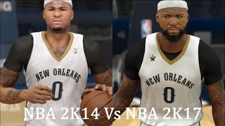NBA 2K17 vs NBA 2K14 | Official Face Graphics - Comparison PS4 HD | Gameplay Pt. 2