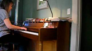 Robin playing Bach Prelude VI in D minor (BWV 851)