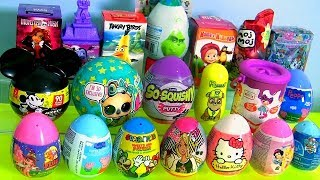 20 Surprise Eggs, Peppa Pig, LOL dolls, Mickey, The Grinch, Barbie Unicorn