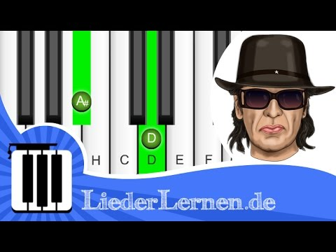 Udo Lindenberg - Wenn du durchhängst - Klavier lernen - Musiknoten - Akkorde