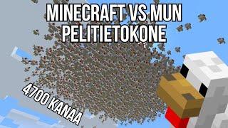 Yritin kaataa Minecraftin mun uudella koneella joten loin kana armeijan