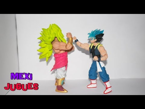SaiyajinesMX - Broly 4D Figuras - Broly Dios Y Goku Fusion Dios Azul