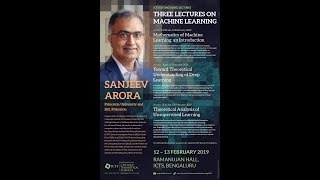 Mathematics of Machine Learning: An introduction (Lecture - 01) by Sanjeev Arora