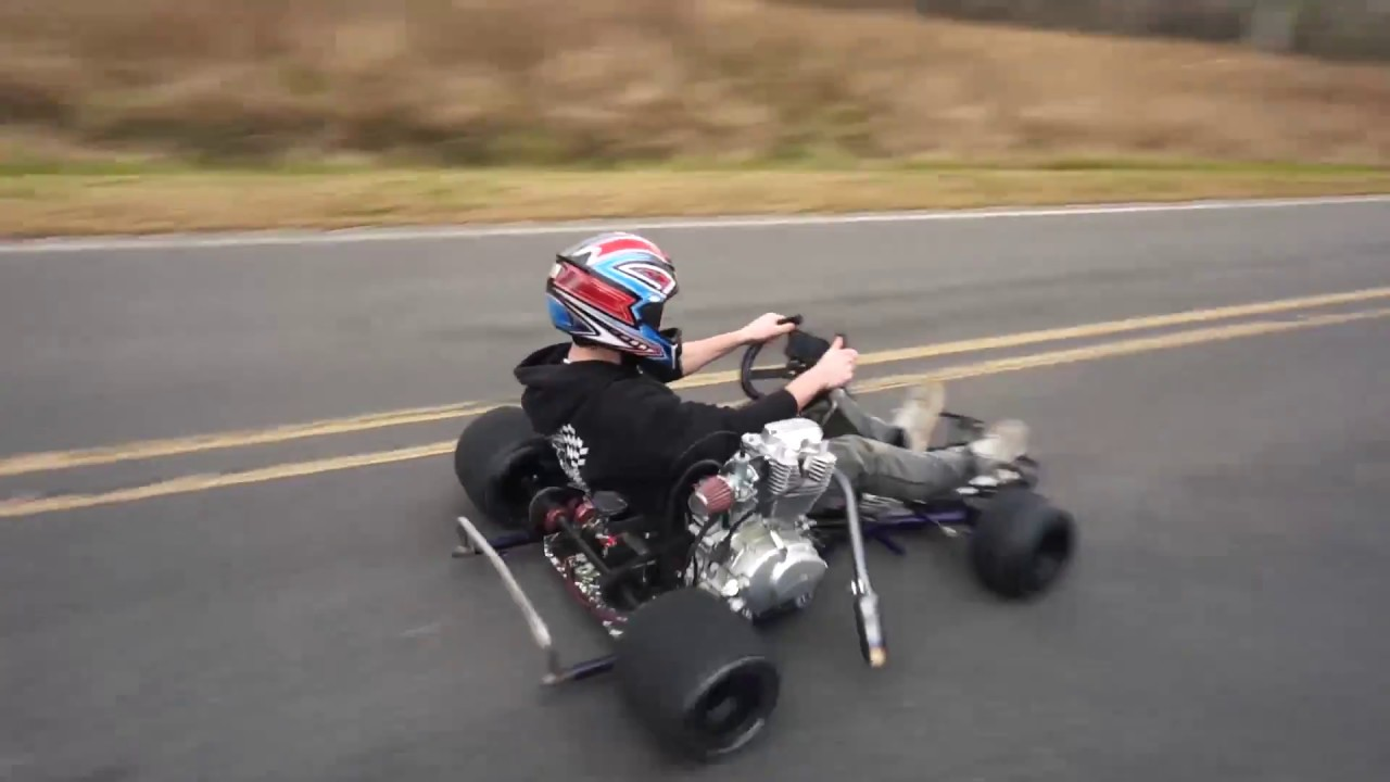 200cc Shifter Kart Top Speed Run 70 Mph Youtube