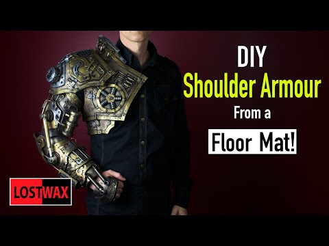 How To Make Steampunk Shoulder Armor Eva Foam Armor Templates For