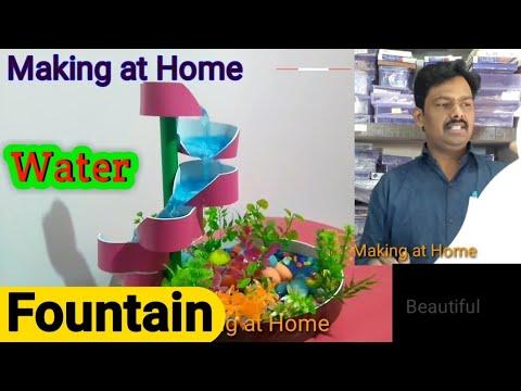 How to make beautiful terracotta fountain very easy || AQUARIUM Decoration ideas || Waterfall Making