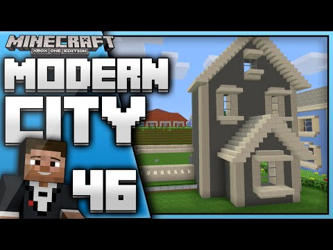 Minecraft Xbox One : Building a Modern City (EP.46) New Traditional House
