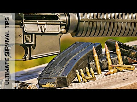 Survival Gun HACK - How to Shoot .22 Ammo in Your AR 15 - (in 60 Seconds) - CMMG 22LR Bravo Kit