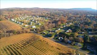 Quadcopter over Picturesque Horse Farm