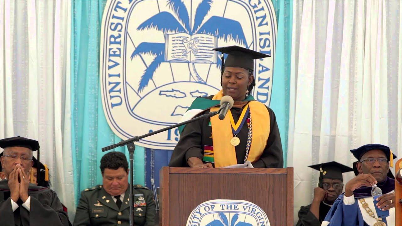 UVI 2014 Commencement - St. Croix Student Speaker Allison De Gazon