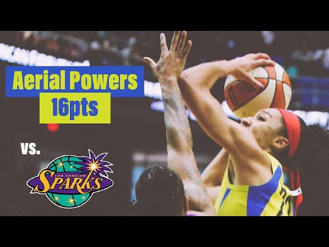 AERIAL POWERS HAD 16PTS IN THE BLOWOUT WIN AGAINST THE LA SPARKS - 6.22.18