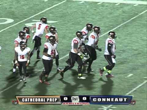 Erie Cathedral Prep Vs Conneaut High School Football Youtube