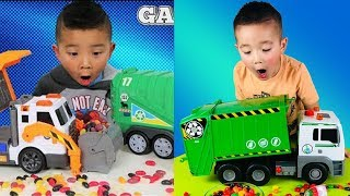 CKN Toys Garbage Trucks Toys Unboxing with Jelly Beans Inspired