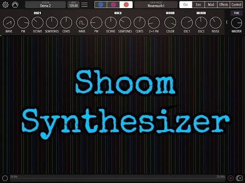 SHOOM Synthesizer by Yuri Turov - Demo for the iPad