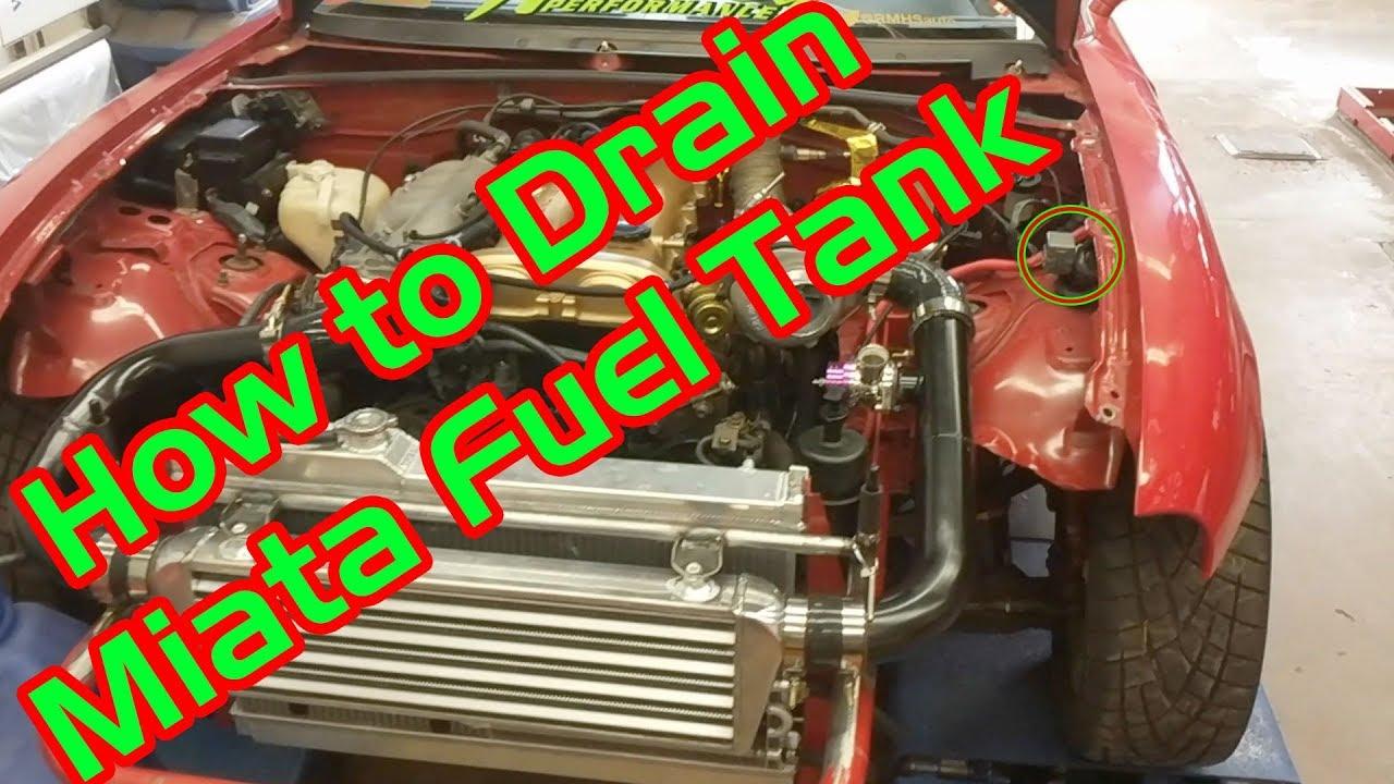 how to drain miata fuel tank na nb  [ 1280 x 720 Pixel ]