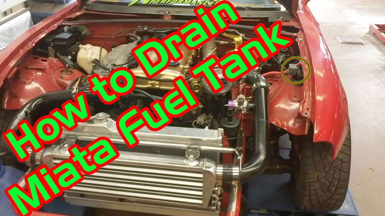 hight resolution of how to drain miata fuel tank na nb