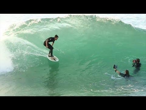 Skimboarders at the Wedge Newport Beach