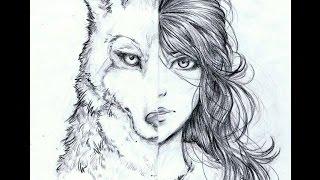 Аквагрим волк Wolf make up