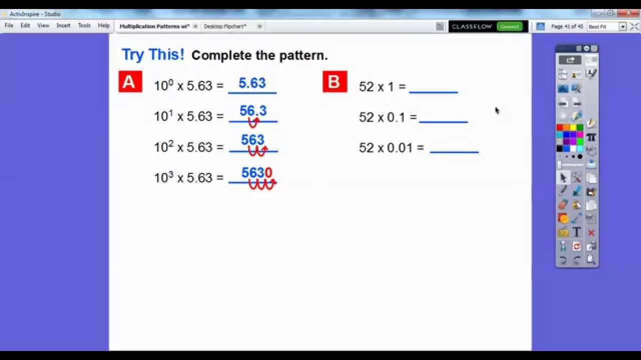 Multiplication Patterns With Decimals Lesson 41 Answer Key Best Ideas