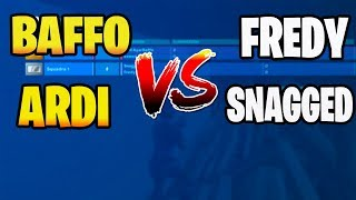 Baffo e Ardi VS Fredy e Snagged! 2vs2 *LEGGENDARIO* - Fortnite ita
