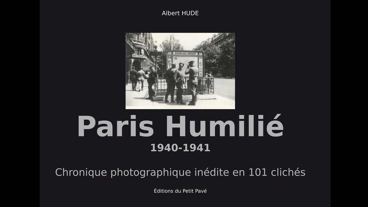 Parution de Paris humilié, d'Albert Hude (éd. du Petit Pavé)