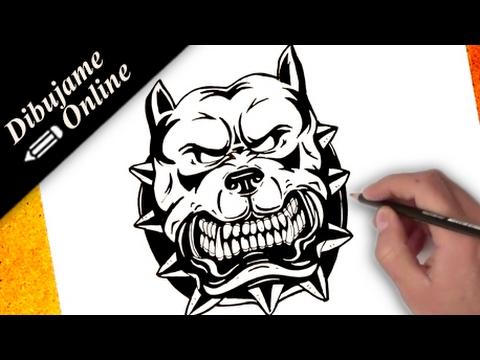 como dibujar un pitbull | como dibujar un pitbull paso a paso - YouTube