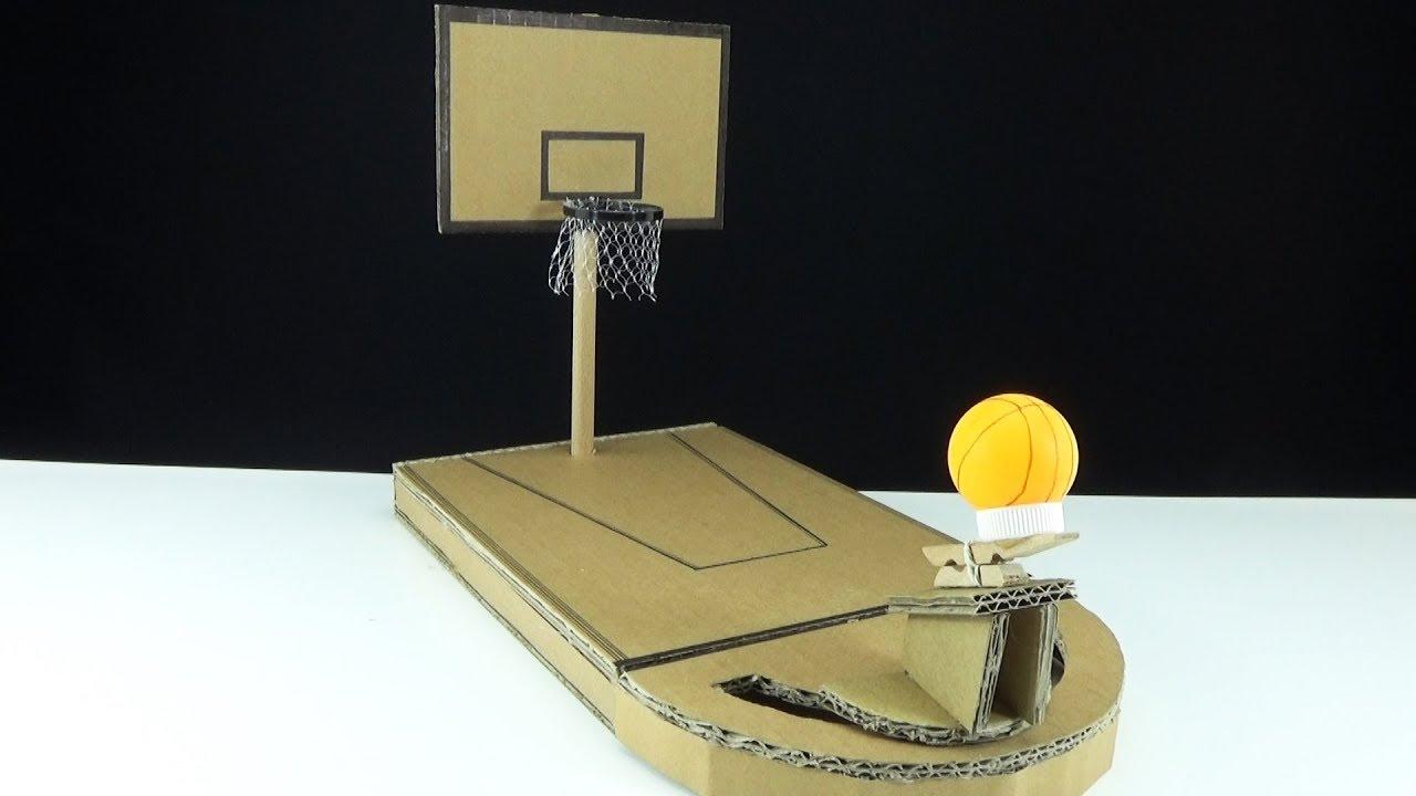 How To Make A Mini Basketball Game Ot Of Cardboard   Playground Board